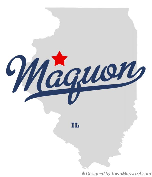 Map of Maquon Illinois IL