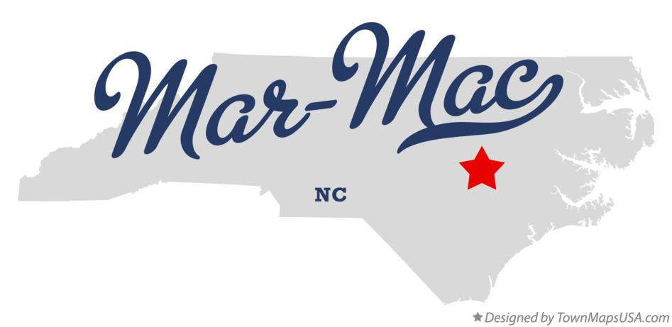 Map of Mar-Mac North Carolina NC
