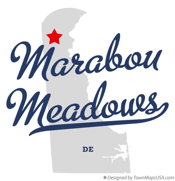 Map of Marabou Meadows Delaware DE