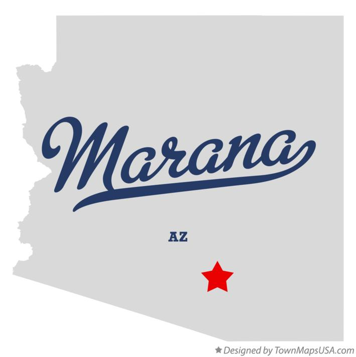 Map of Marana Arizona AZ
