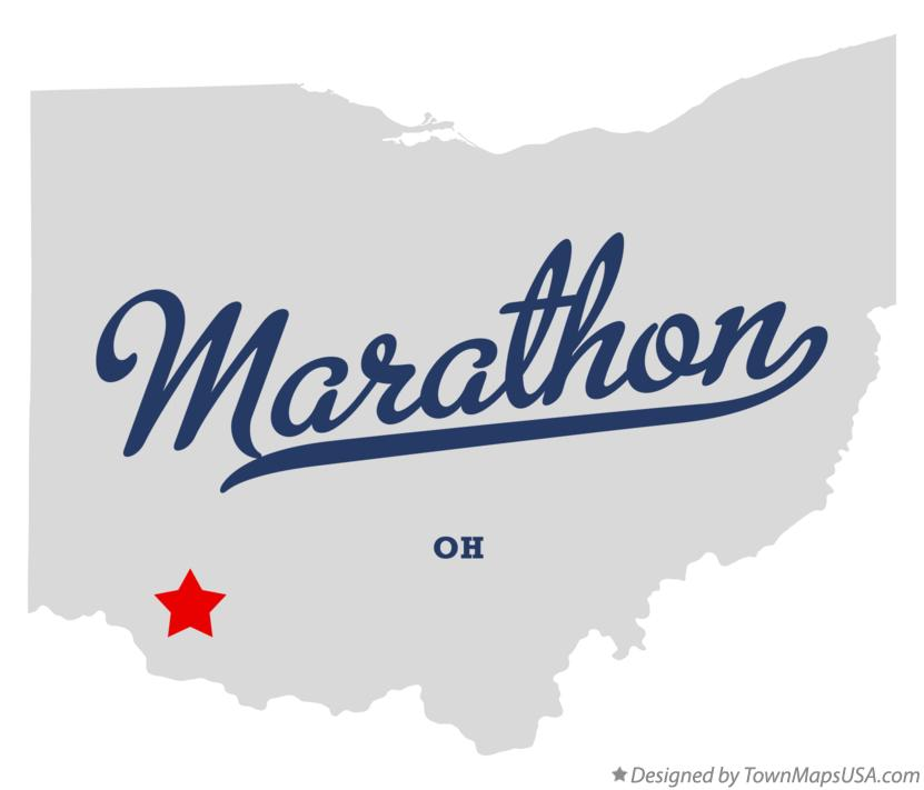 Map of Marathon Ohio OH