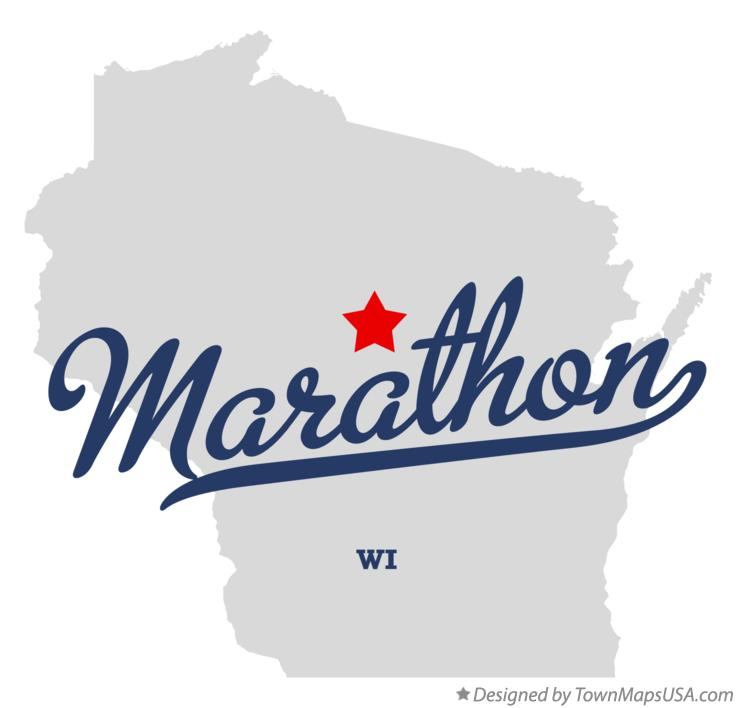 Map of Marathon Wisconsin WI