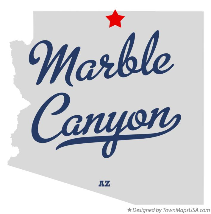 Map of Marble Canyon Arizona AZ