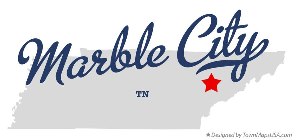 Map of Marble City Tennessee TN