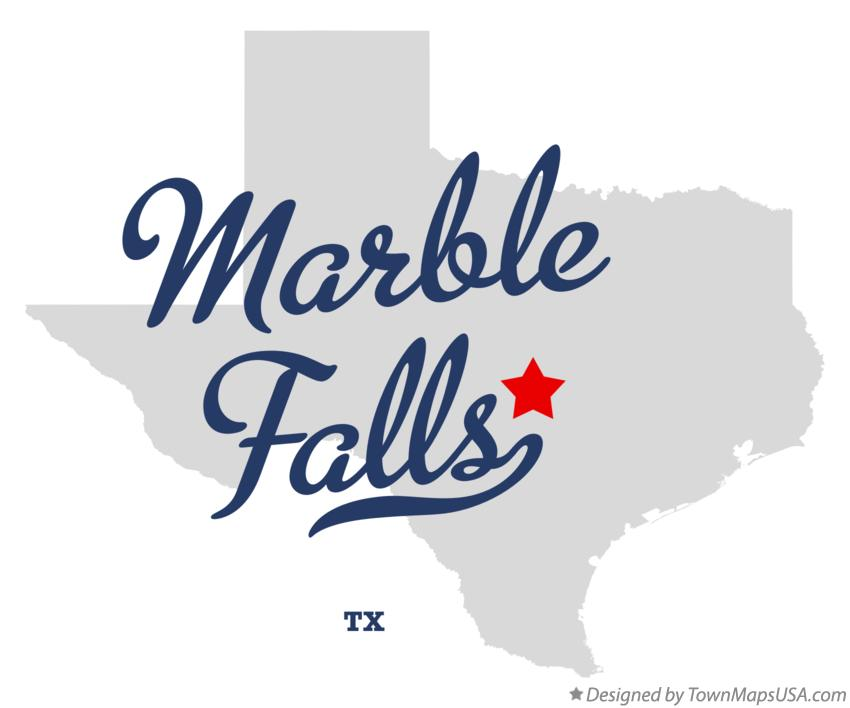 Map of Marble Falls Texas TX