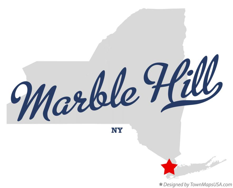 Map of Marble Hill New York NY