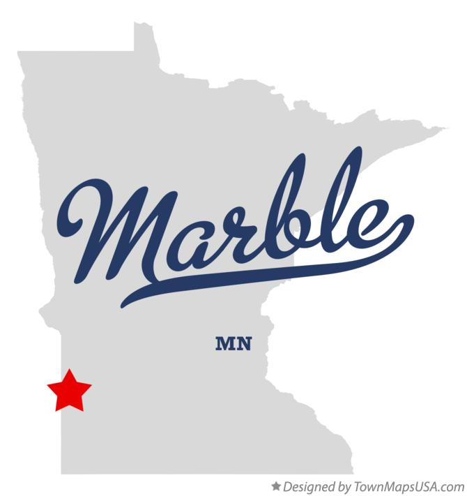 Map of Marble Minnesota MN