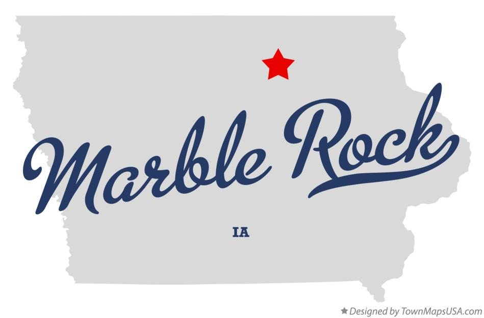 Map of Marble Rock Iowa IA