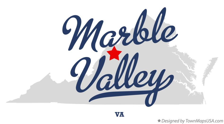 Map of Marble Valley Virginia VA