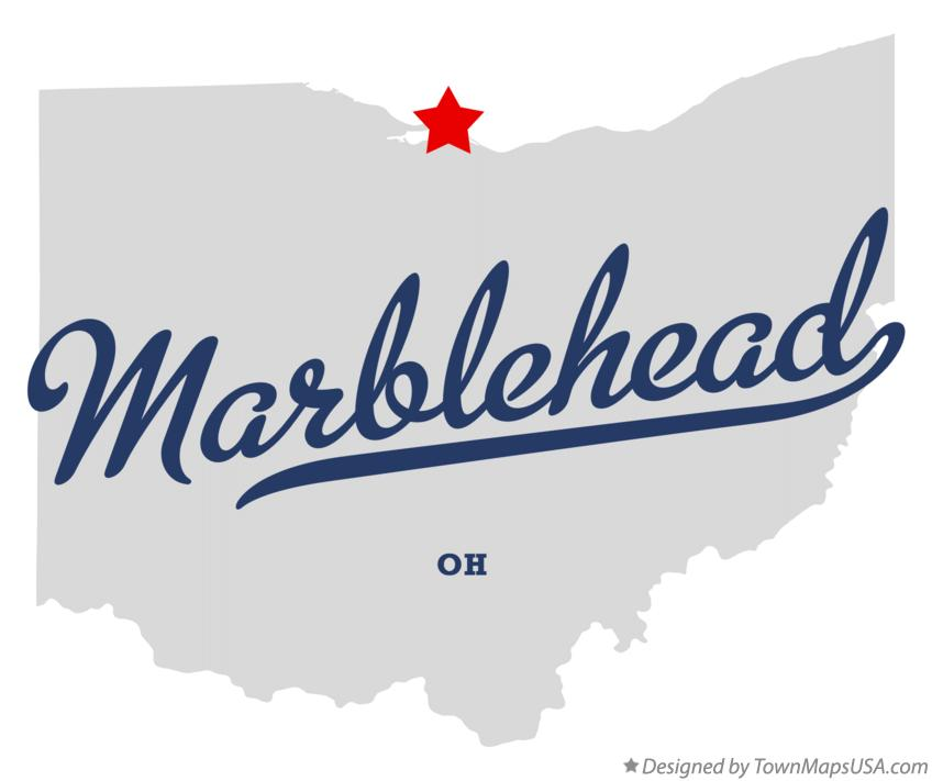 Map of Marblehead Ohio OH
