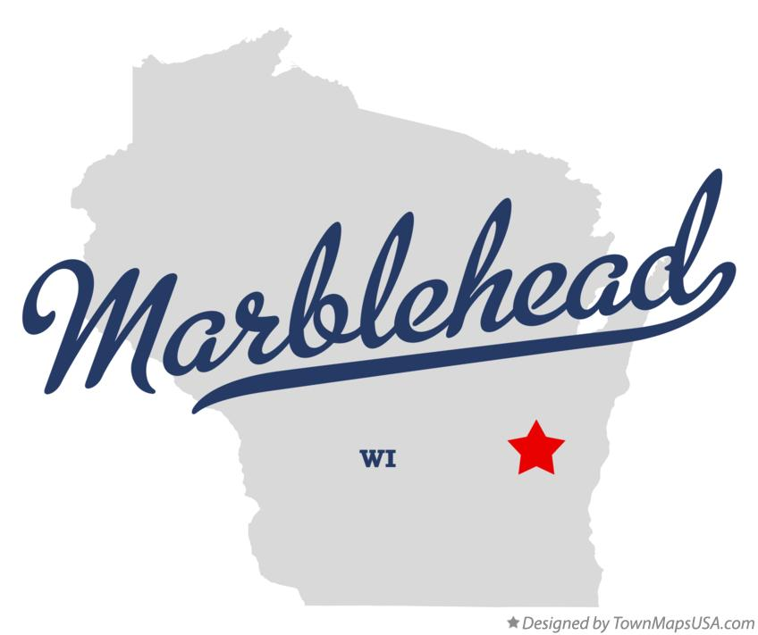 Map of Marblehead Wisconsin WI