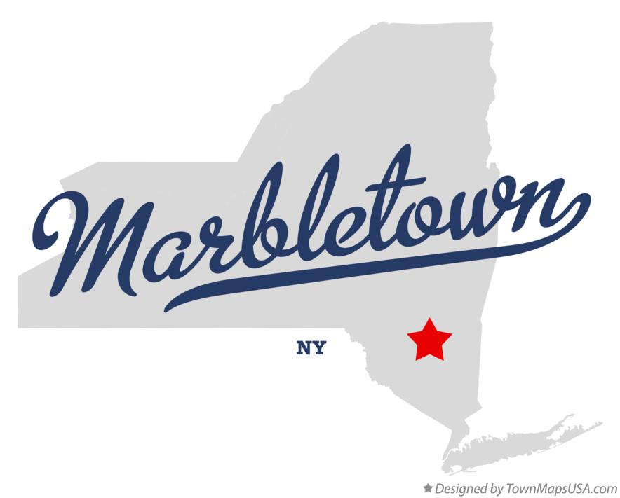 Map of Marbletown New York NY