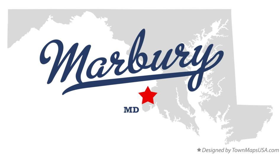 Map of Marbury Maryland MD