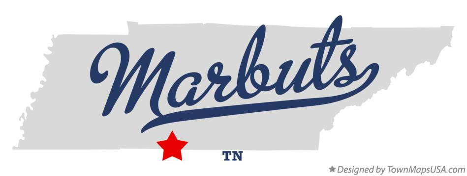 Map of Marbuts Tennessee TN