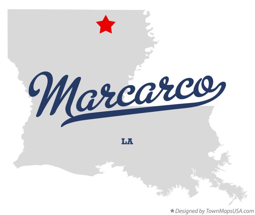 Map of Marcarco Louisiana LA