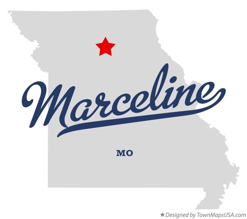 Map of Marceline Missouri MO