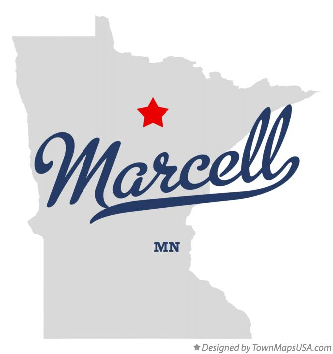 Map of Marcell Minnesota MN