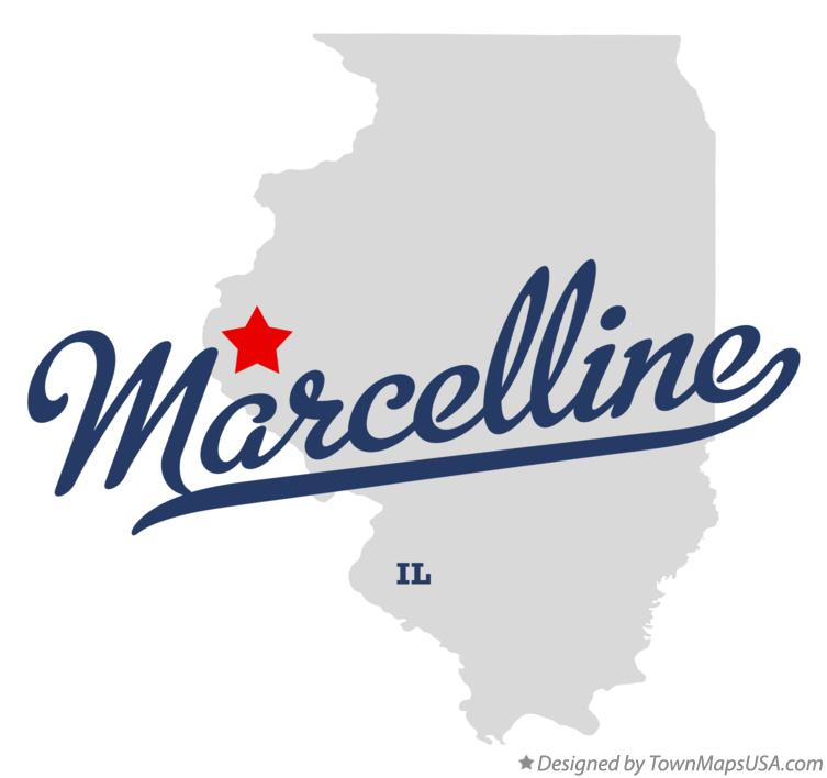 Map of Marcelline Illinois IL