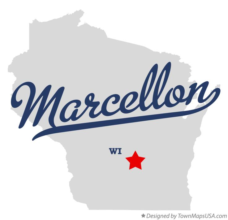 Map of Marcellon Wisconsin WI