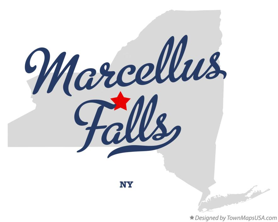 Map of Marcellus Falls New York NY