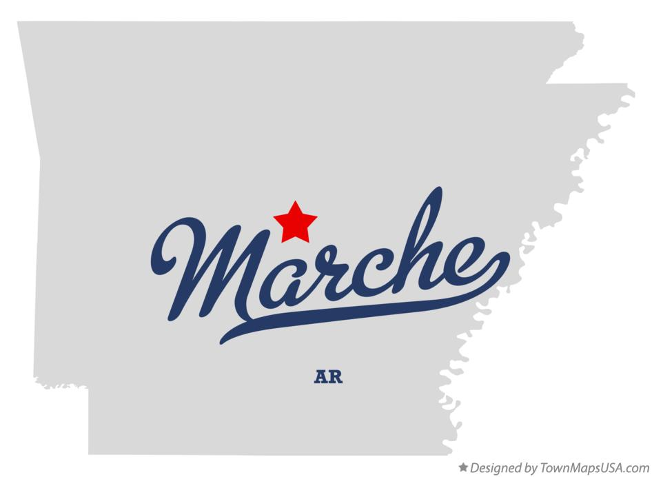 Map of Marche Arkansas AR