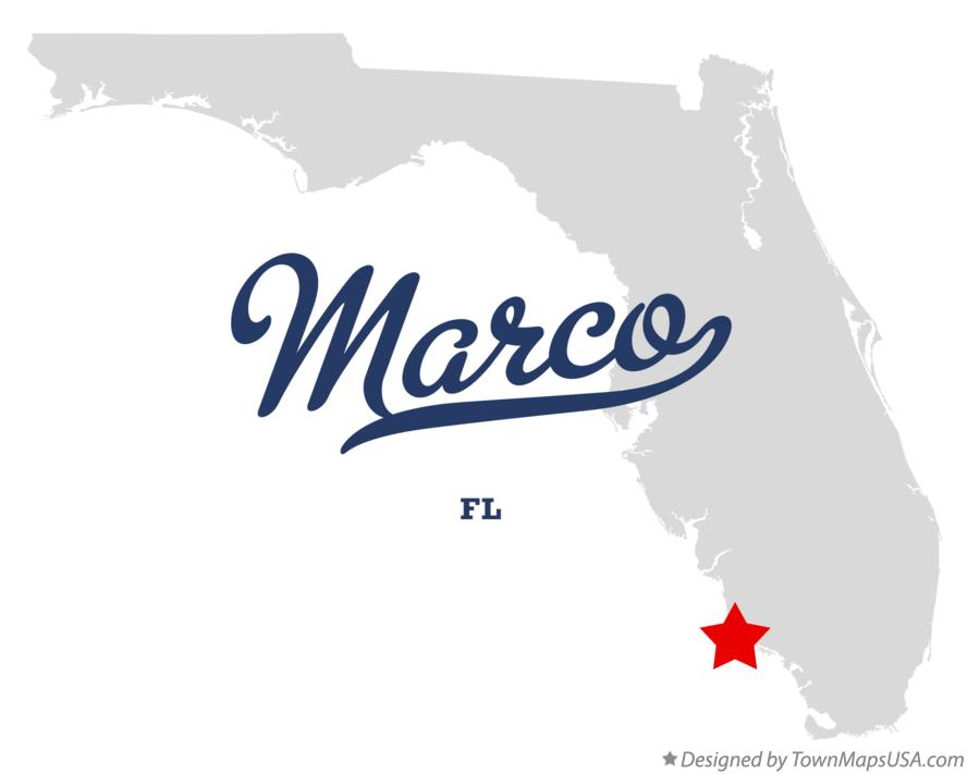 Map of Marco Florida FL
