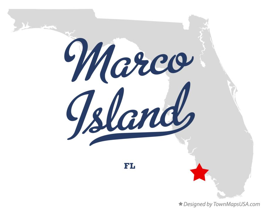 Map of Marco Island Florida FL