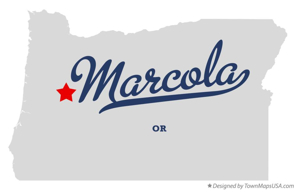 Map of Marcola Oregon OR