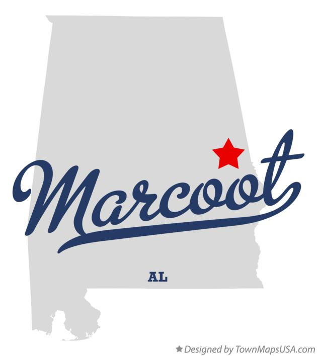 Map of Marcoot Alabama AL