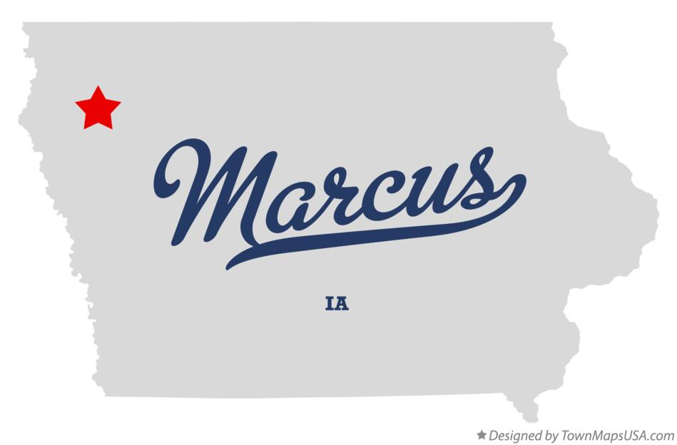 Map of Marcus Iowa IA