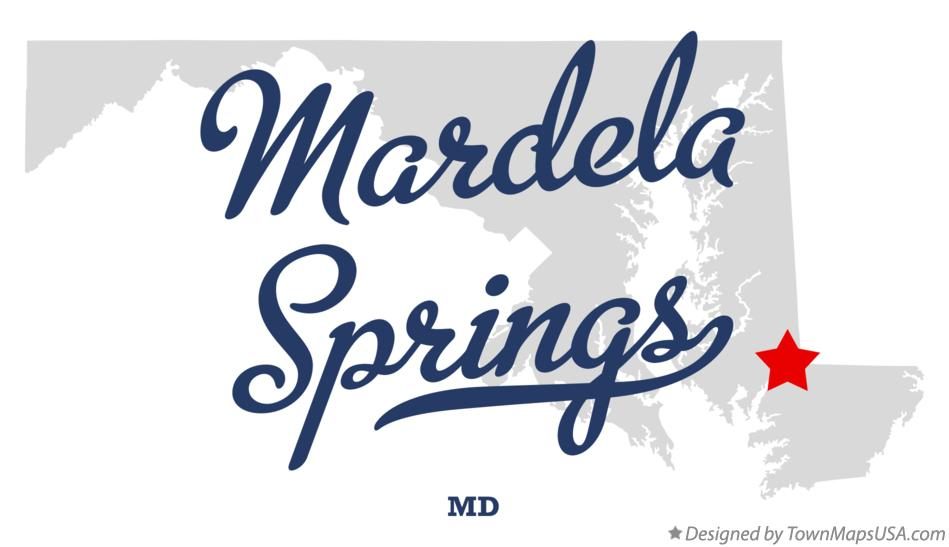 Map of Mardela Springs Maryland MD