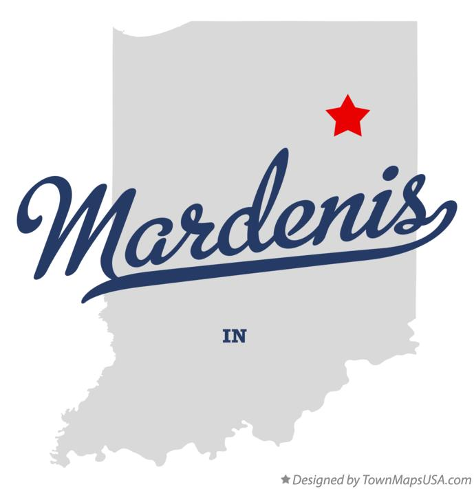 Map of Mardenis Indiana IN