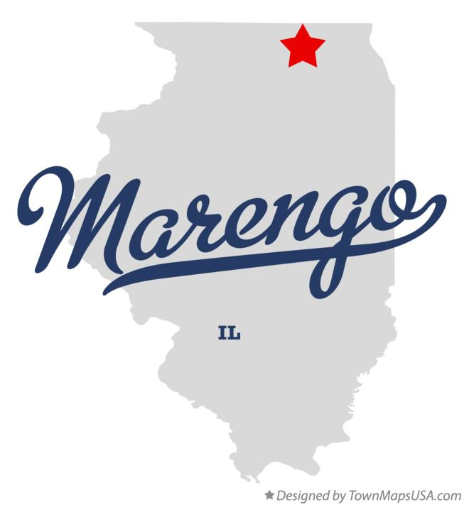 Map of Marengo Illinois IL
