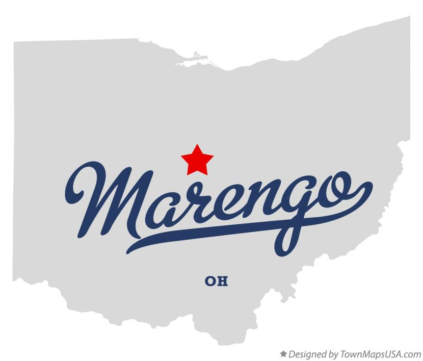 Map of Marengo Ohio OH