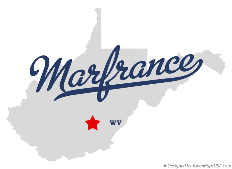 Map of Marfrance West Virginia WV