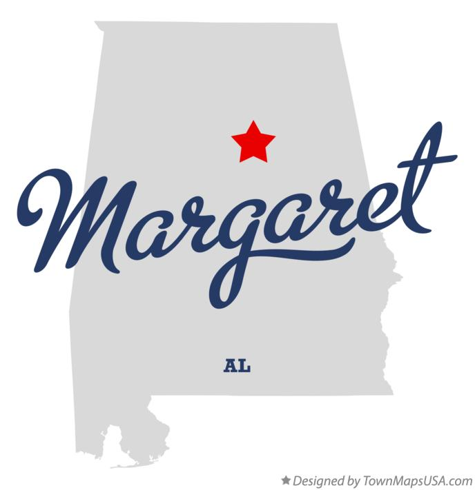 Map of Margaret Alabama AL