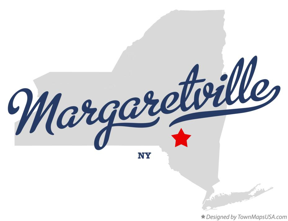 Map of Margaretville New York NY