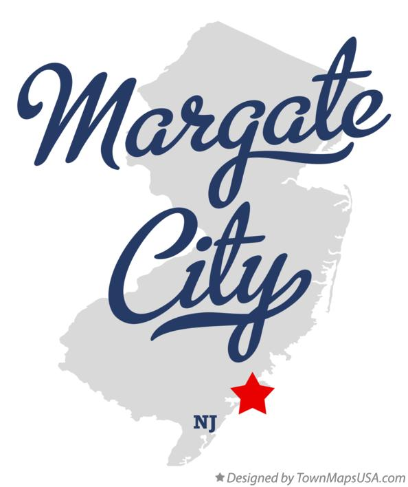 Map of Margate City New Jersey NJ