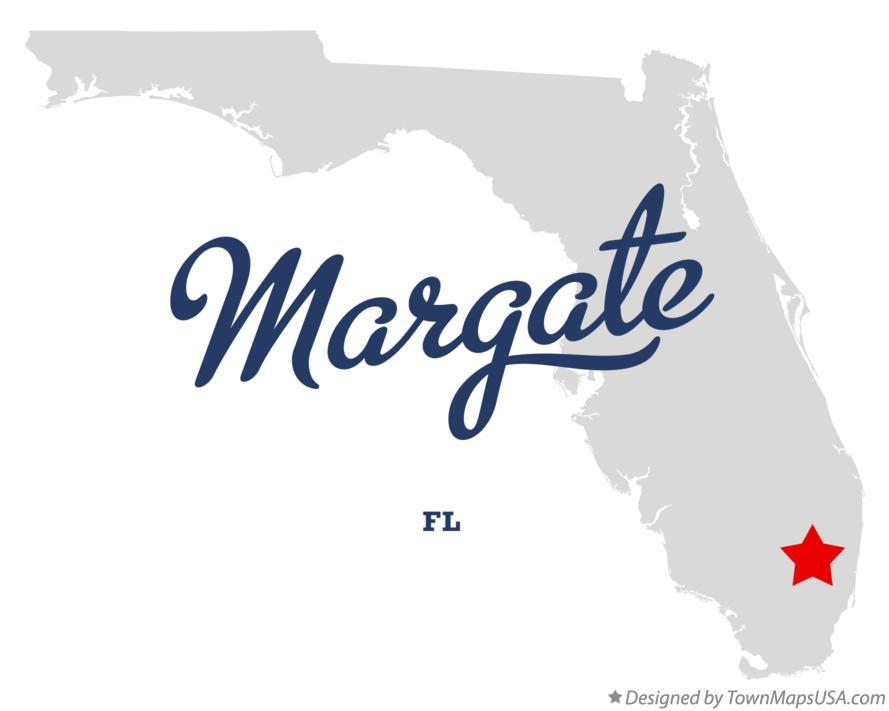 Margate Florida Map.Map Of Margate Fl Florida