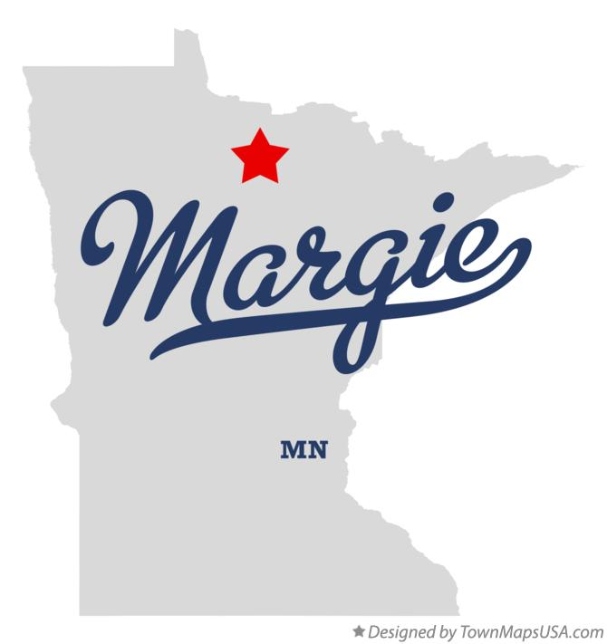 Map of Margie Minnesota MN