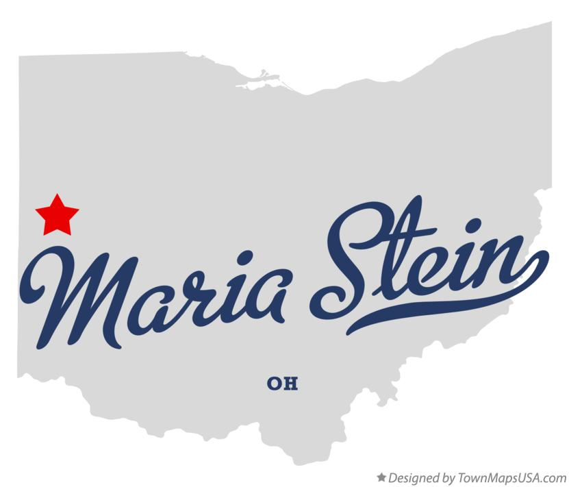 Map of Maria Stein Ohio OH