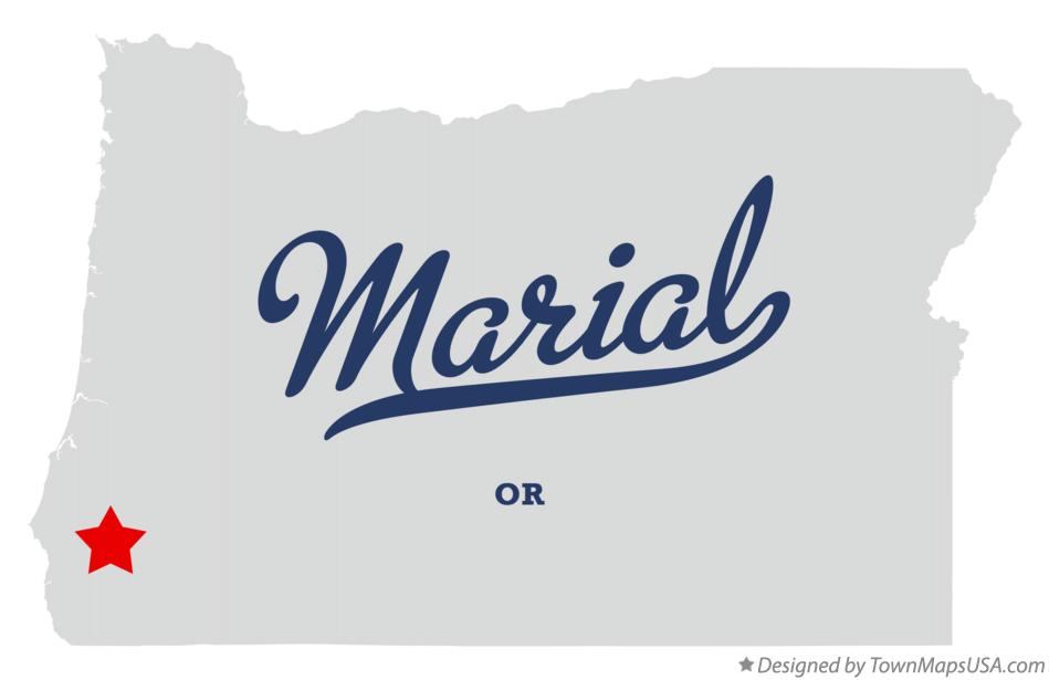 Map of Marial Oregon OR