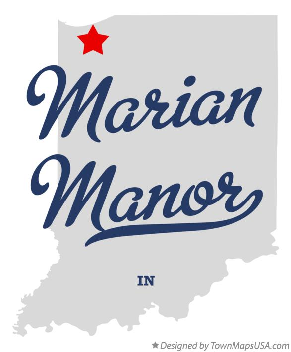 Map of Marian Manor Indiana IN