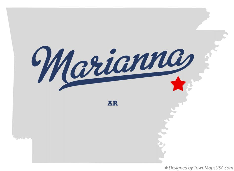 Map of Marianna Arkansas AR