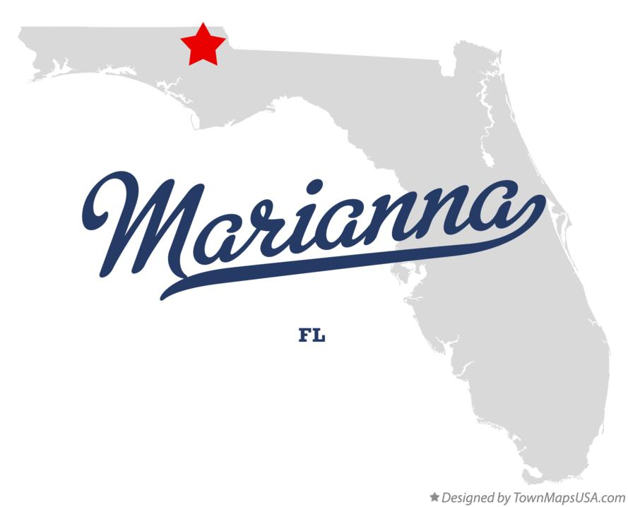 Map of Marianna FL Florida