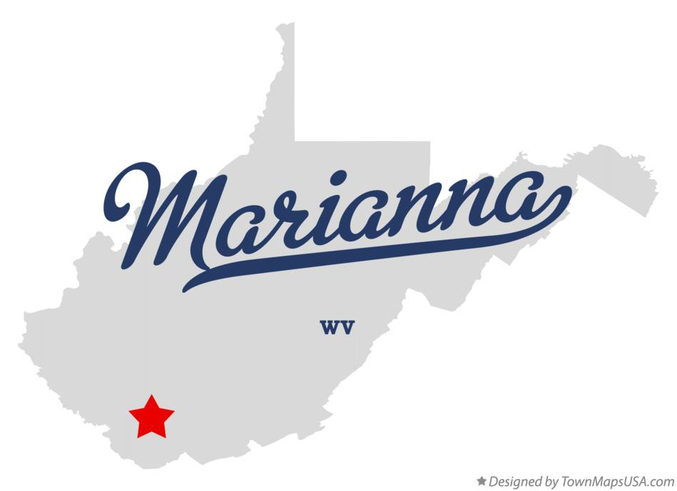 Map of Marianna West Virginia WV