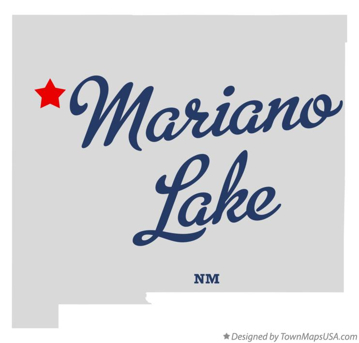 Map of Mariano Lake New Mexico NM