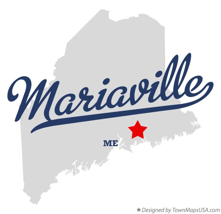 Map of Mariaville Maine ME