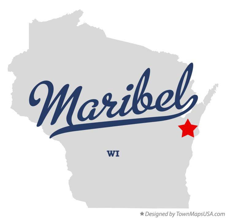 Map of Maribel Wisconsin WI