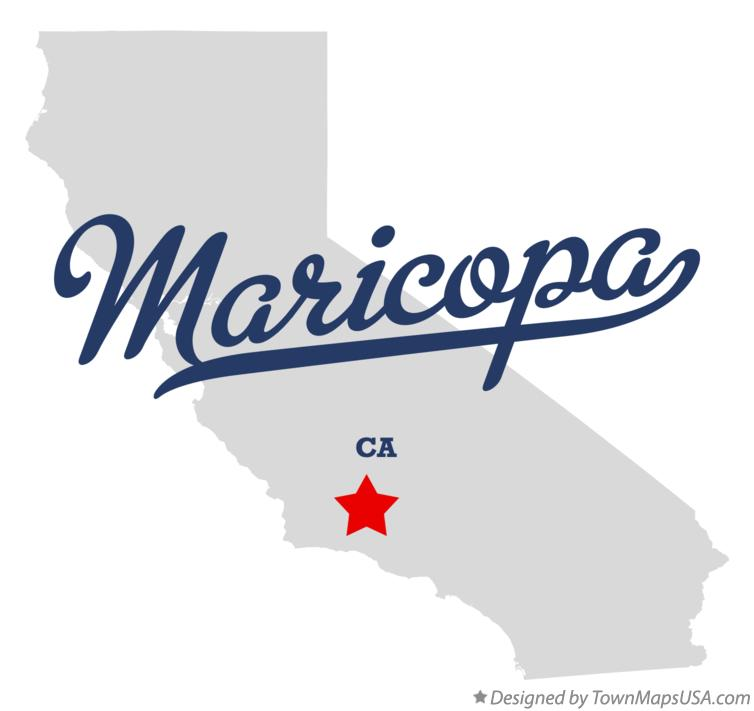 Map of Maricopa California CA